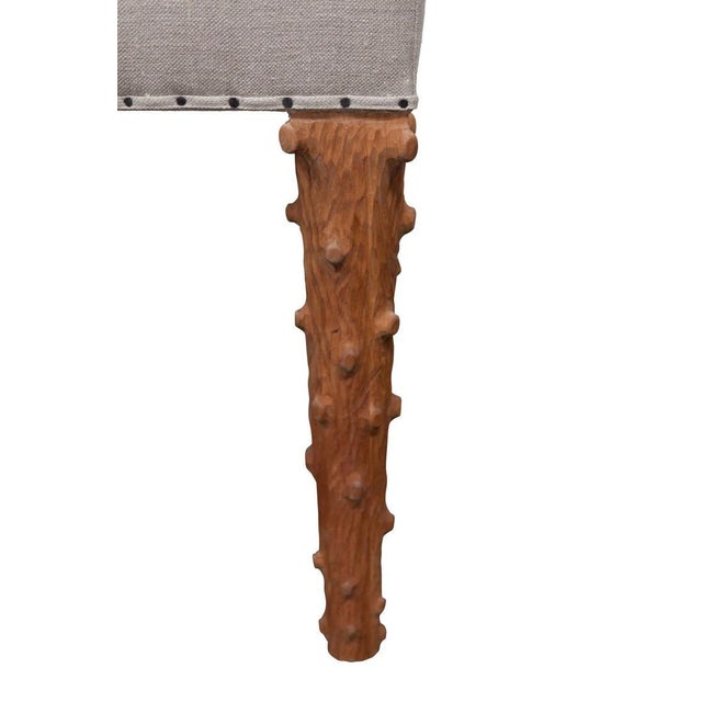 Modern JW Custom Line Carved Leg Bench For Sale - Image 3 of 5