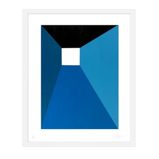 "Large Max & Alma Wolf Contemporary Abstract Minimal ""Blue Door"" Print For Sale"