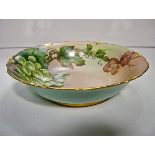 Rosenthal Germany Antique Bavarian Lush Grape Bowl For Sale - Image 4 of 6