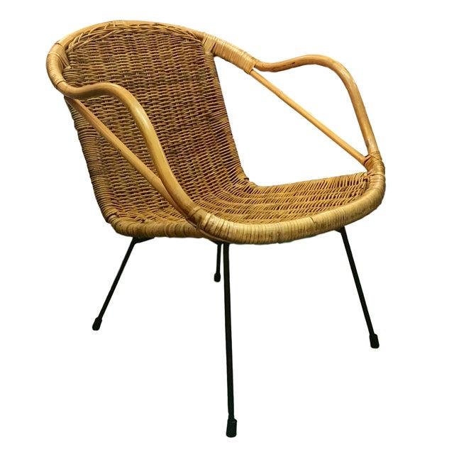 Vintage Rattan Hoop Chair - Image 1 of 5