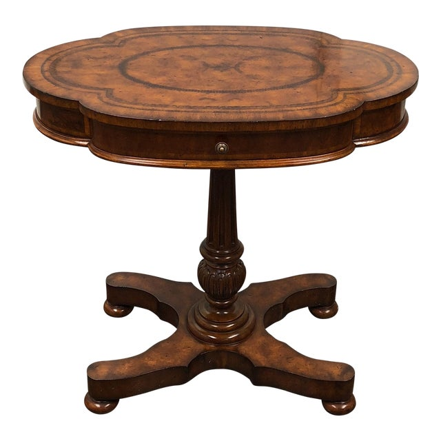 Maitland Smith Fruitwood Side Table - Image 1 of 7