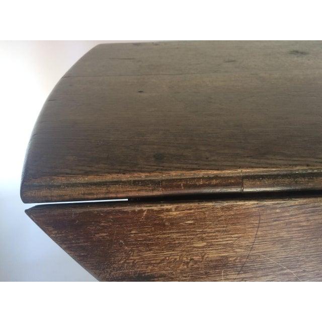 Antique 19th C. English Oak Drop-leaf Gate Leg Table - Image 4 of 10