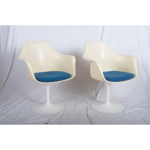Aluminum Model 151 Tulip Armchairs by Eero Saarinen for Knoll International - A Pair For Sale - Image 7 of 10