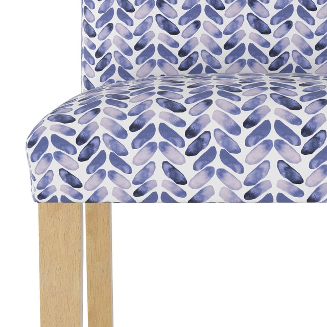 Spritely Home Dining Chair in Cableknit Blue Oga For Sale - Image 4 of 7
