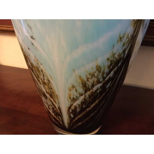 Large Art Deco Blue and Brown Vase - Image 4 of 5
