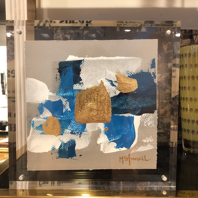 Original Art Floating in Lucite For Sale - Image 9 of 13