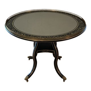 Hollywood Regency Julia Gray Eglomise Center Table For Sale