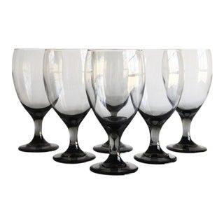 Grey Wine Glasses, Set of 6
