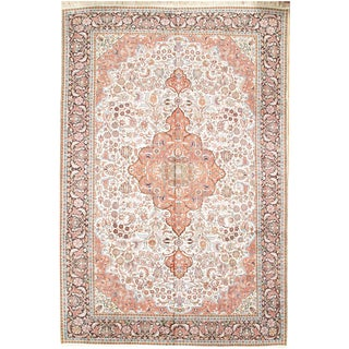 """Pasargad NY Kashmir A. Silk Hand-Knotted Rug - 8' X 11'7"""" For Sale"""