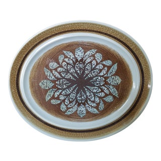Mid Century Franciscan Earthenware Platter For Sale