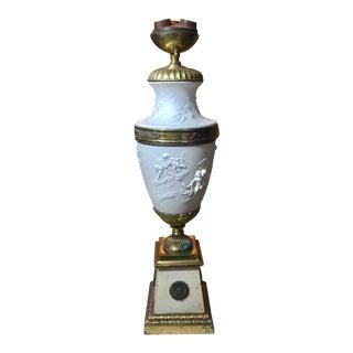 Antique Sevres Bisque Lamp For Sale