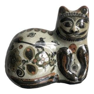 Jorge Wilmot Signed Mustachioed Cat Sculpture For Sale