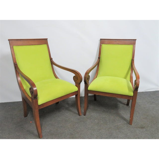Late 20th Century Ethan Allen Regency Style Chairs- a Pair For Sale - Image 5 of 11