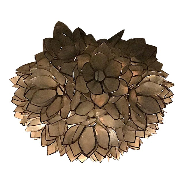 Capiz Petal Flushmount Light - Image 1 of 4