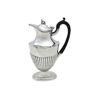 Antique English Silver-Plate Wine Jug For Sale