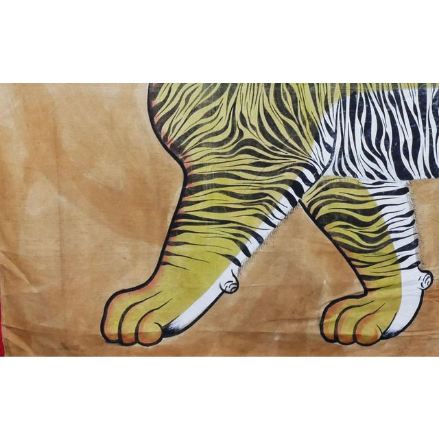 Mid 20th Century Vintage Large East Asian Tiger Tapestry Rug For Sale - Image 5 of 8