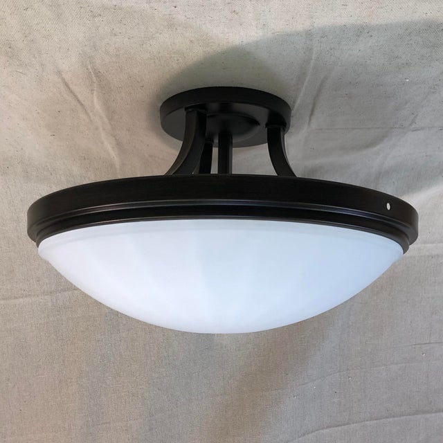 Feiss 2-Light Perry Semi-Flush Mount For Sale - Image 9 of 9