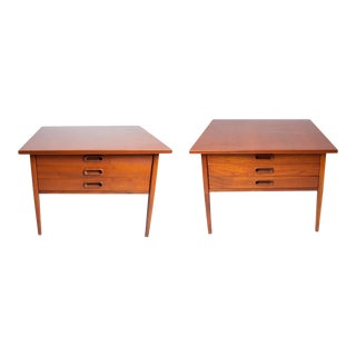 Restored 1960's Jack Cartwright for Founders Side Tables For Sale