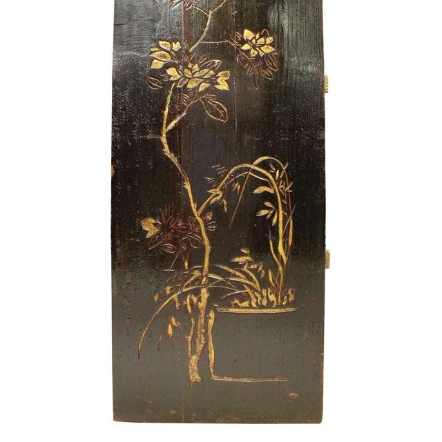 Asian Vintage Restored Flower Carving Wood Panel For Sale - Image 3 of 7