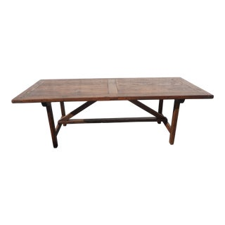 Wormy Chestnut Farmhouse Table in a Primitive Style. A Classic ! For Sale