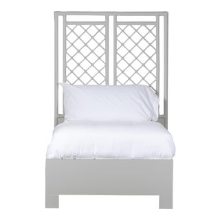 X & Diamond Bed Twin - Light Gray For Sale