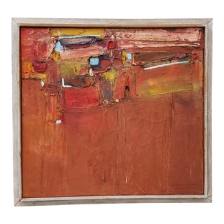 Janet Schrock Jones Mid Century Modern Abstract Painting C.1950s For Sale