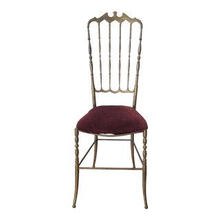 1970s Vintage Brass Italian Chiavari Chair For Sale