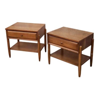Vintage Danish Modern Elm End Tables/Nightstands - a Pair For Sale