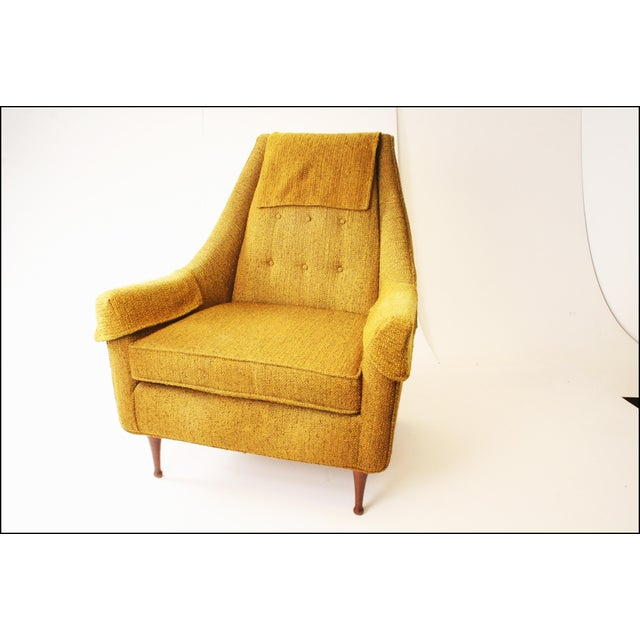 Mid Century Modern Upholstered Lounge Chair by Flexsteel - Image 2 of 11