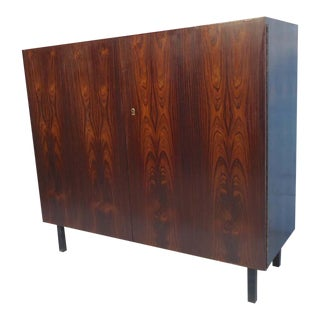 Vintage Two Door Rosewood Cabinet For Sale