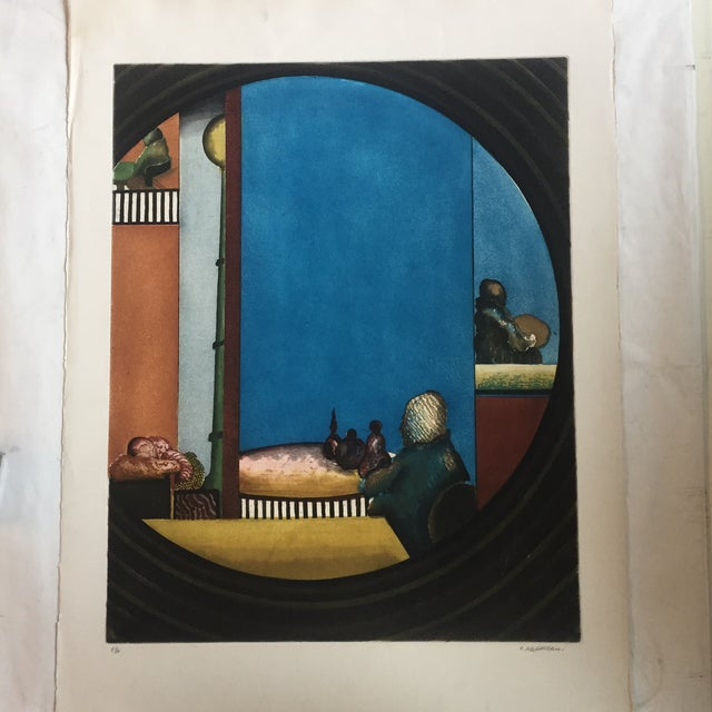 Drawing/Sketching Materials Vintage Eli's Abrahami Original Lithograph For Sale - Image 7 of 7