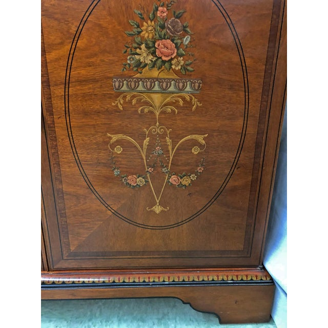 Beautiful Drexel French Country Armoire and/or entertainment system. The art is all hand painted and the wood inlay detail...
