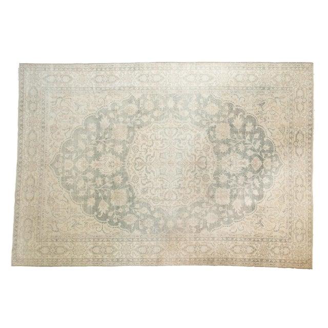"Vintage Distressed Oushak Carpet - 6'6"" X 9'7"" For Sale - Image 13 of 13"