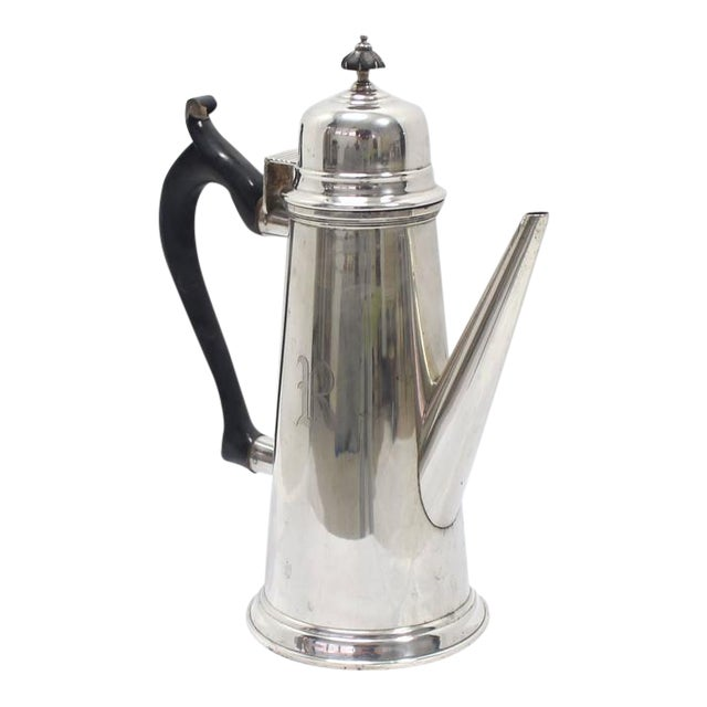 Jacob Hurd by Frank Whiting Sterling Silver Tea Coffee Pot For Sale