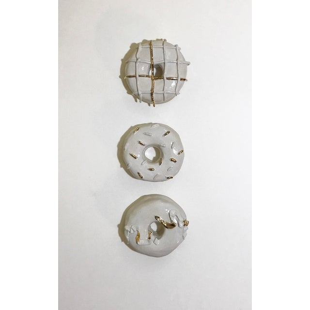 Ceramic Wall Donuts - Set of 3 For Sale - Image 10 of 10