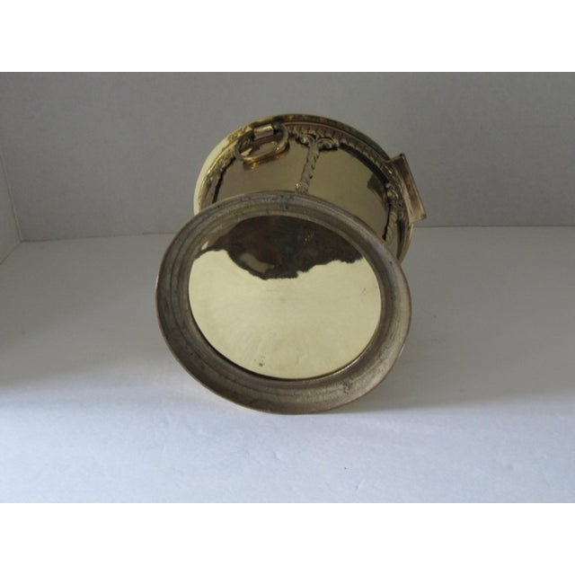 Brass Box With Attached Lid For Sale - Image 4 of 6