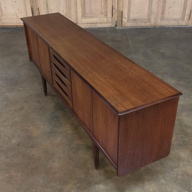 Contemporary Mid-Century Modern Mahogany Low Buffet For Sale - Image 3 of 13