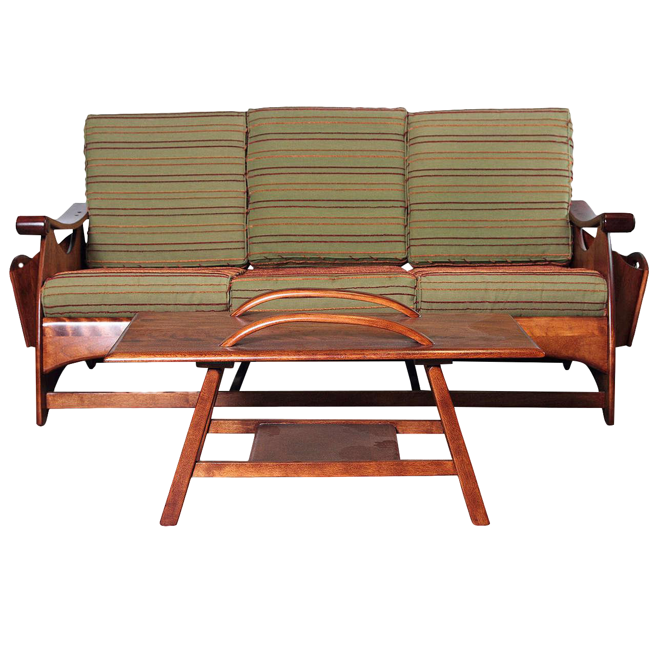 Sophisticated Gilbert Rohde Art Deco Sofa And Coffee Table For