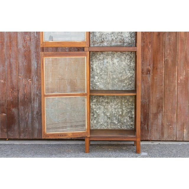 Tall 19th Century British Colonial Glass Cabinet For Sale - Image 10 of 13