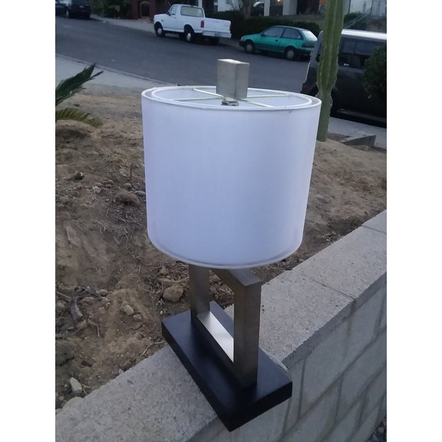Modern Minimalist Square Table Lamp For Sale In San Diego - Image 6 of 9