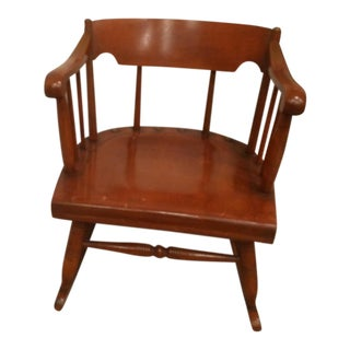 Vintage Mid Century Nichoisioni All American Short Rocking Chair For Sale