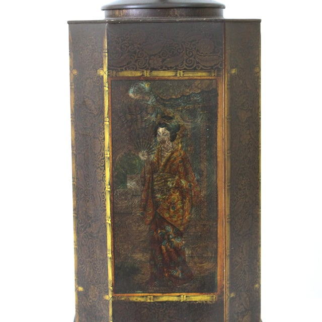 Chapman Asian Toleware Tea Canister Lamp - Image 3 of 7