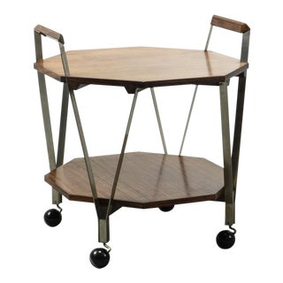 Mid-Century Octagonal Serving Trolley Designed by Ico Parisi for Stildomus Milan, Italy, 1959 For Sale