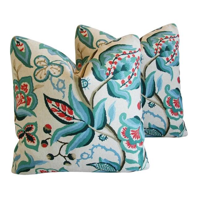 Schumacher Alexandra Floral Velvet Pillows - a Pair - Image 1 of 10