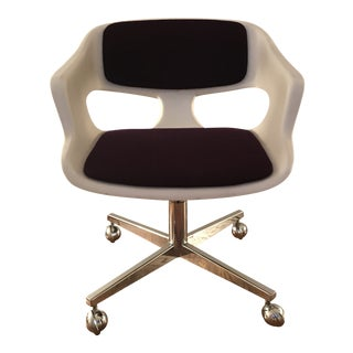 Vintage 1970s Space Age Panton Colombo Kartell Colani Office Chair For Sale