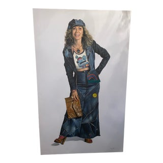 """""""The Jean Lady"""" Painting by Sherry Wolf For Sale"""