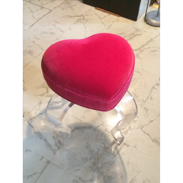 Haziza Red Heart Stool - Image 2 of 4
