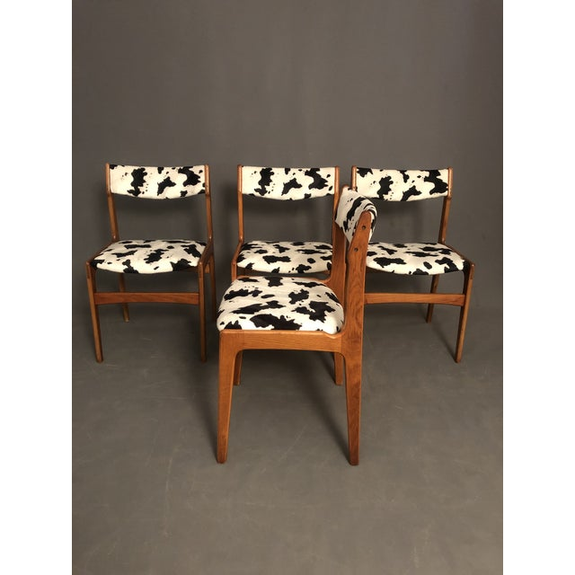 Vintage Mid Century Curated Teak Danish Dining Chairs- Set of 4 For Sale - Image 4 of 12