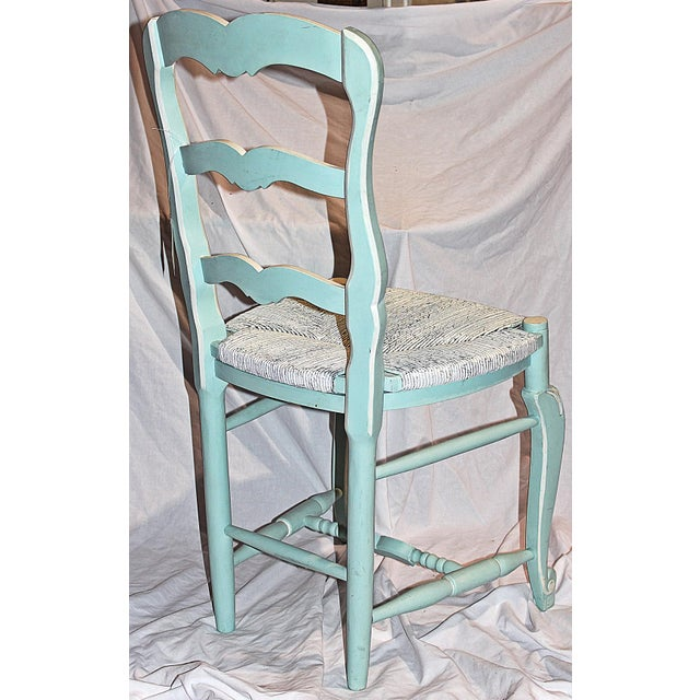 French Country Pale Blue Chair For Sale In West Palm - Image 6 of 6