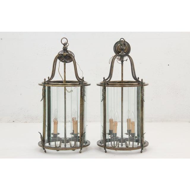 Art Nouveau Lanterns - A Pair - Image 2 of 8